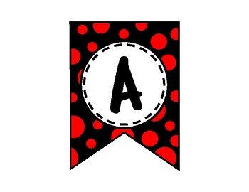 Alphabet Letters for Banners: Red & Black