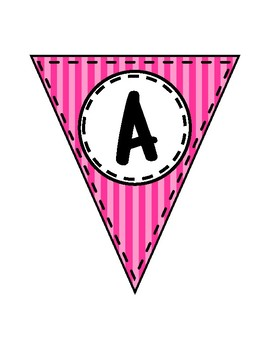 Alphabet Letters for Banners: Triangle Pink