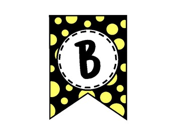 Alphabet Letters for Banners: Yellow & Black
