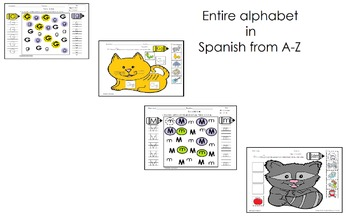 Alphabet Letters for PreK in Spanish only (Entire Set of 52 pgs)