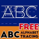 Alphabet Letters for Tracing Worksheet - Uppercase and Lowercase FREE