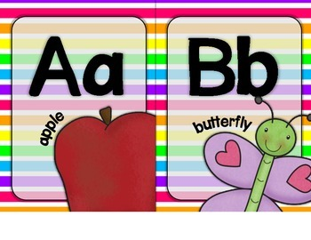 Alphabet Letters for Wall - Light Bright Colors