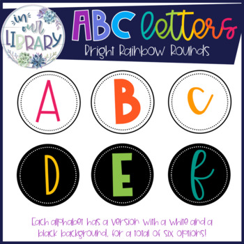 Alphabet Letters {Word Walls or Book Bins}