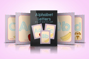 Alphabet Letters in Teal and Hot Pink