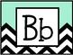 Alphabet Letters with Chevron Theme