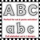 Alphabet Letters with Cutting Lines - Clip Art BUNDLE