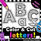 Alphabet Letters with Cutting Lines - Alphabet Cut and Pas