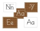 Alphabet Letters- with lines, plain and cursive