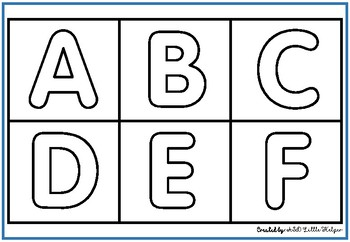 Alphabet Letters without background and with colored backgrounds.