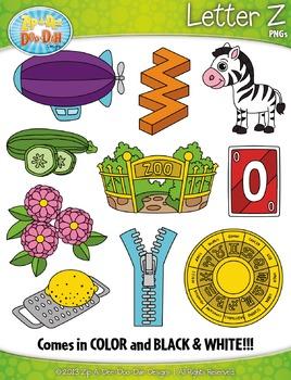 Alphabet Letters Z Clipart {Zip-A-Dee-Doo-Dah Designs}