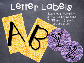 Alphabet Library Labels