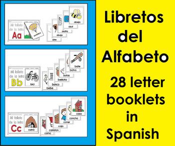 Alphabet-Libretos del Alfabeto Spanish flip booklets pack
