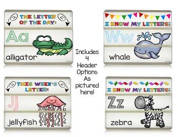 Alphabet Light Box Slides - ABCs