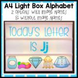 Alphabet Light Box for A4 only