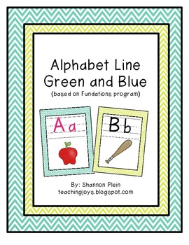 Alphabet Line: Lime Green & Turquoise