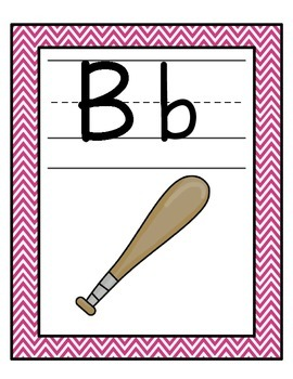 Alphabet Line: Pink and Turquoise