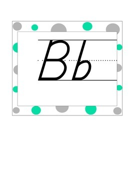 Alphabet Line Gray and Teal
