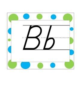 Alphabet Line blue and green
