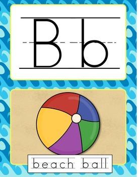 Alphabet Line - Beach theme - 11 x 14