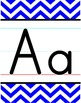 Alphabet Line - Blue & White Chevron