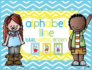 Alphabet Line - Blue, Yellow, Green Style