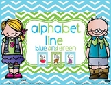 Alphabet Line - Blue and Green Style