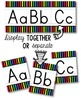 Alphabet Line - Bright & Black Vertical Stripes