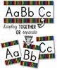Alphabet Line - Bright & Black Vertical Stripes