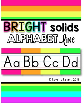 Alphabet Line - Bright Solids