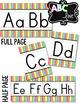 Alphabet Line - Bright & White Vertical Stripes