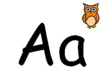 Alphabet Line Bulletin Board Banner or ABC Word Wall Headers Owls Theme