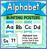 Alphabet Line Bunting Banner Posters