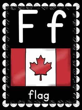 Alphabet Line: Canada Theme (black & white set)