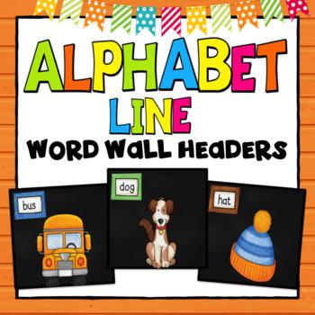 Alphabet Line Chalkboard Background