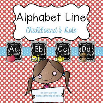 Alphabet Line: Chalkboard & Dots