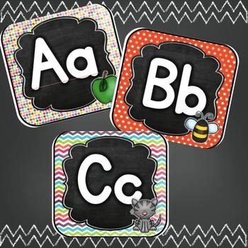 Alphabet Line: Vintage Chalkboard in Print and Cursive