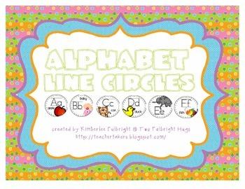 Manuscript Alphabet Line Circles