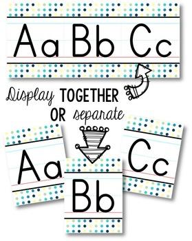 Alphabet Line - Cool Shades Polka Dot