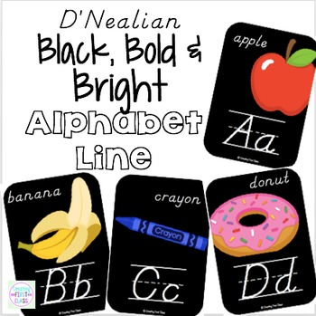 Alphabet Line D'Nealian: Black, Bright, and Modern!