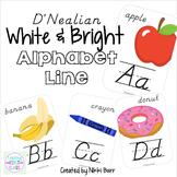 Alphabet Line D'Nealian: White, Bright, and Modern!