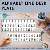 Alphabet Line Desk Plate