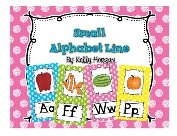 Alphabet Line Display Cards SMALL
