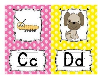 Alphabet Line Display Cards SMALL