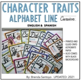 Alphabet Line El abecedario Cursive - Character Traits in Spanish