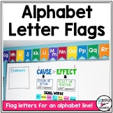 Alphabet Line Flag Letters- Bulletin Board