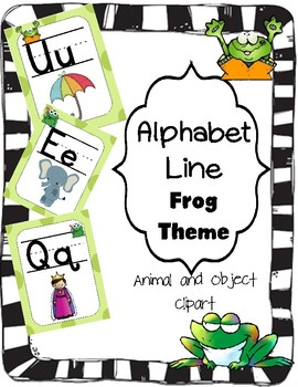 Alphabet Line (Frog Theme with Generic Clipart)