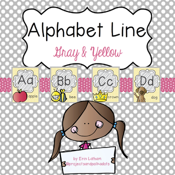 Alphabet Line: Gray and Yellow