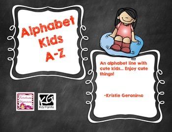 Alphabet Line - Kids Clip Art