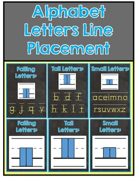 Alphabet Line Placement Poster & Activity Set