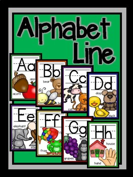 Alphabet Line Posters-The Modern Classroom